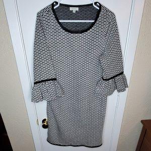 Ivory/Black Dress
